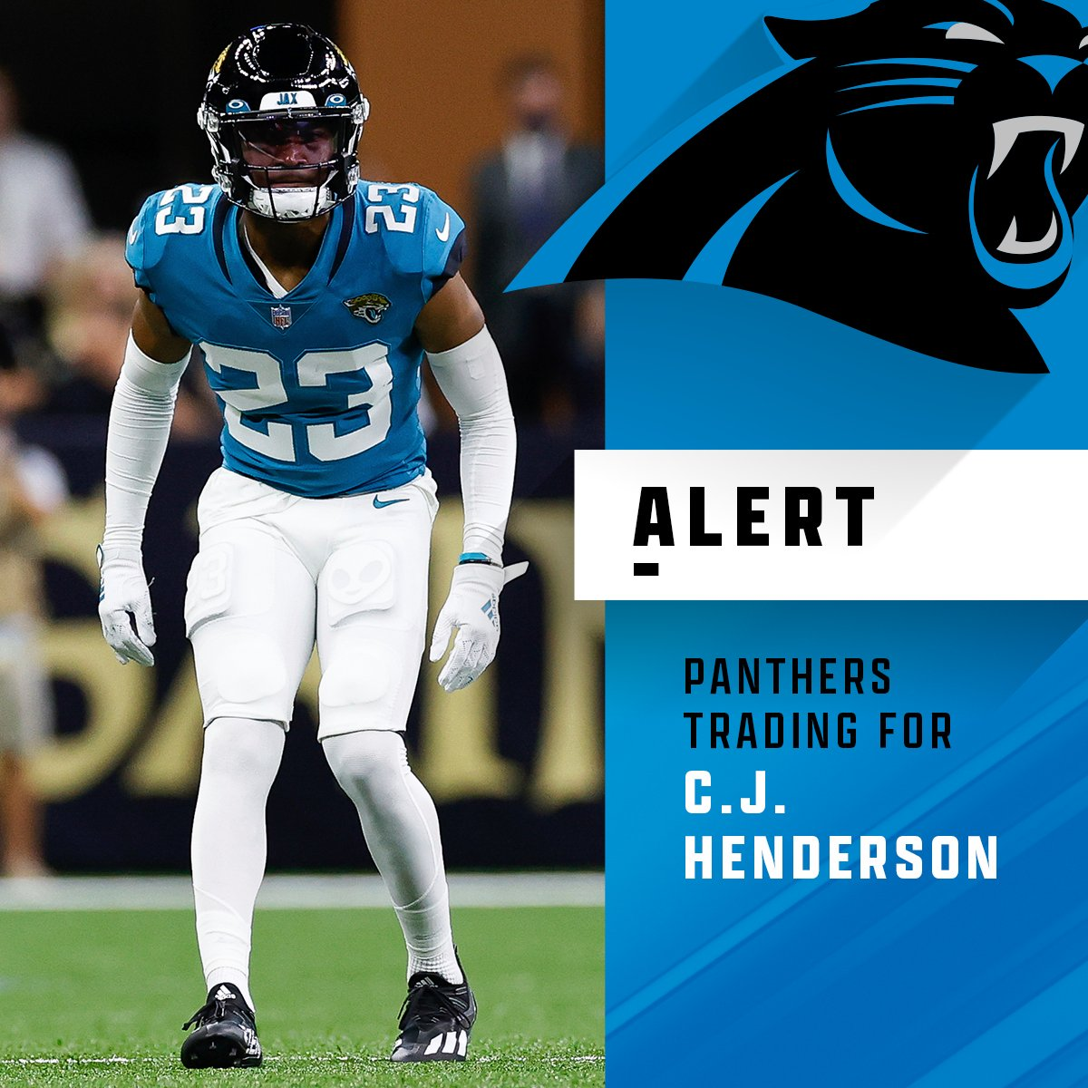 test Twitter Media - Jaguars trading CB C.J. Henderson and a fifth-round pick to the Panthers in exchange for TE Dan Arnold and a third-round pick. https://t.co/vVPB0Ou8C2