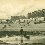 """Image for the Tweet beginning: """"The Beach, Bexhill-on-Sea."""" #Postcard showing"""