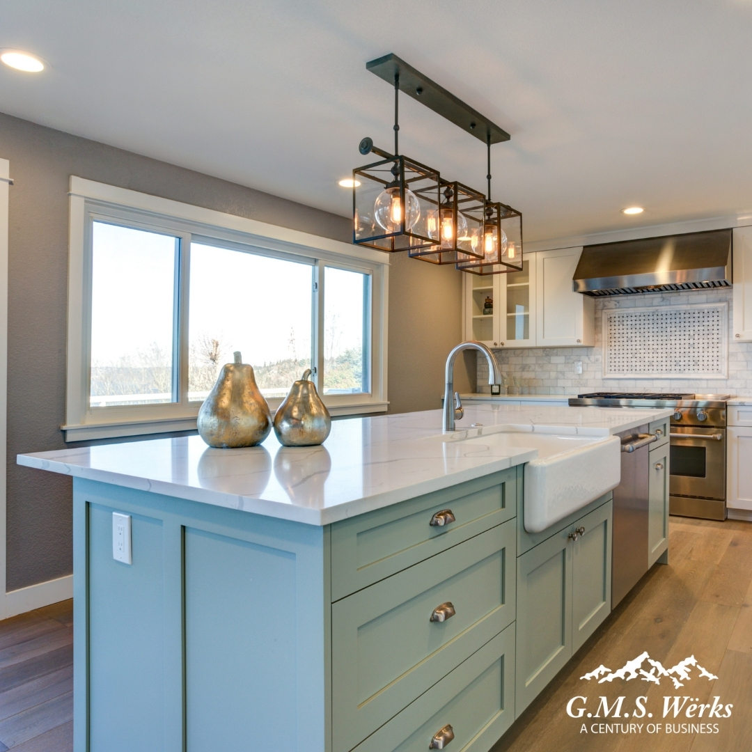 One of the best and easiest ways to change up the look of your kitchen is by adding a kitchen island! Use these tips to create the perfect kitchen island for your space!  bit.ly/37J1GrX   #KitchenDesign #KitchenIsland