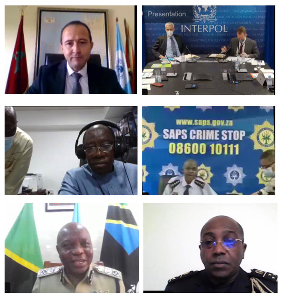 At today's meeting with senior police from 45 African countries, I underlined that curbing violence, countering organized crime and enhancing border security remain at the core of INTERPOL's support to the region, and to the @_AfricanUnion #Agenda2063