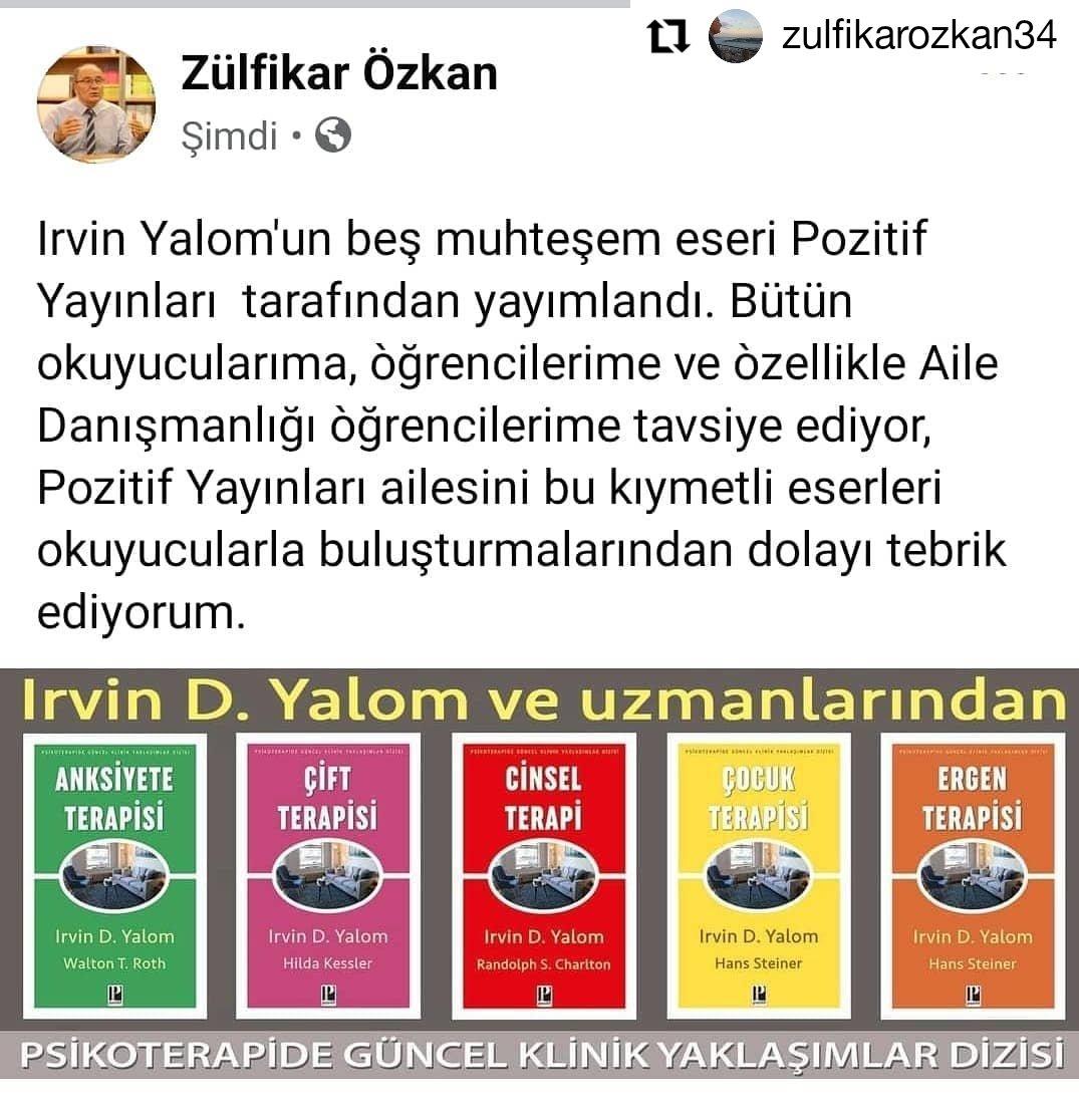 Paylaşımınız ve  yorumunuz için teşekkür ederiz. 😊  #Repost @zulfikarozkan34(instagram) • • • • • • #pozitifyayınları  #kitapönerisi  #kitap  #kitaptavsiyesi  #kitapkurdu  #kitapyurdu  #kitapokumak  #kitapsevgisi  #irvinyalom  #zülfikaròzkan #zihinselterapi