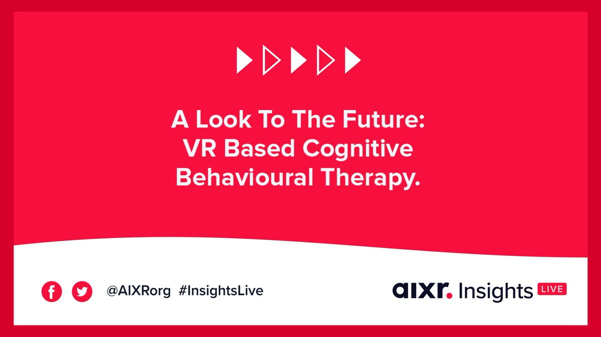 Turning the most popular treatment, digital. 💭  Join @Lajboschitz (@khora_vr), @DaveTrainor (@SentirealCom) and @RossToomer (TDP Consulting) for an in-depth discussion on #VRs aid.  #InsightsLive 05.10 7pm BST:  ow.ly/u7YQ50GfXjP  #CognitiveBehaviouralTherapy #mentalhealth