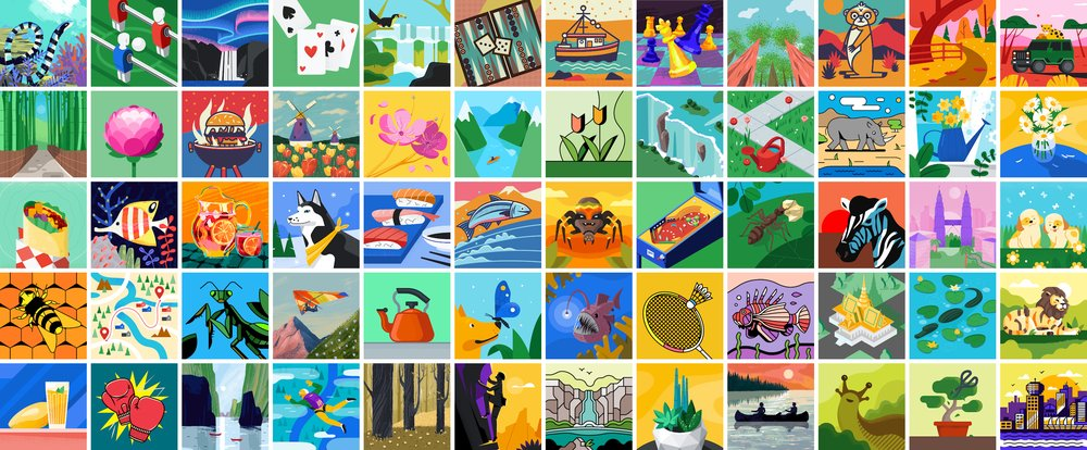 Google created illustrations you can use as profile pictures