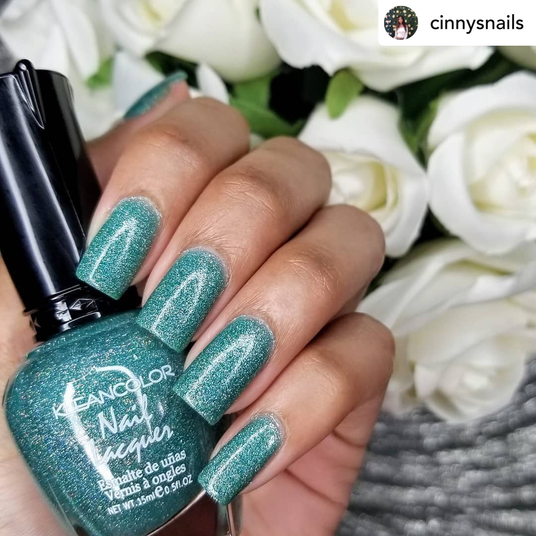 Nails that mesmerize, nails that give you life! Done by supertalented @cinnysnails  💅She uses our Nail Lacquer in Holo Blue (#135). Available now for only $1. - #KLEANCOLOR #NailLacquer #NailPolish #Metallic #CrueltyFree #Makeup #Beauty #Cosmetics -