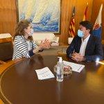 Image for the Tweet beginning: Luis Barcala recibe a Nuria