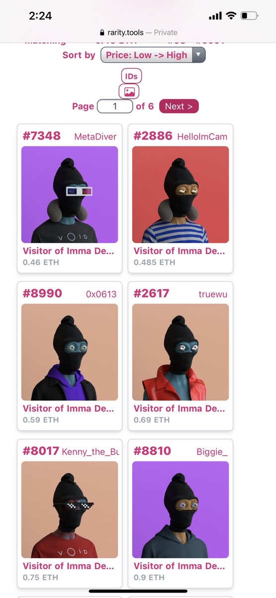 If you were trying to gat Balaclava Void for cheap. There are only 2 left under .5 Eth