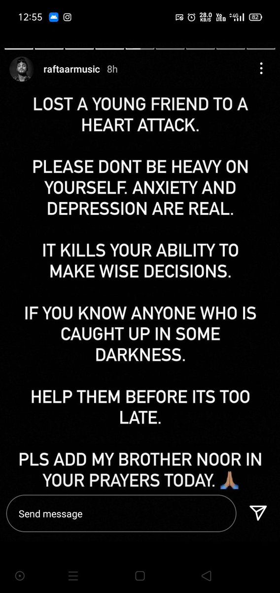 Please take care of yourself and PPL around you because anxiety and depression are real. #MentalHealthMatters
