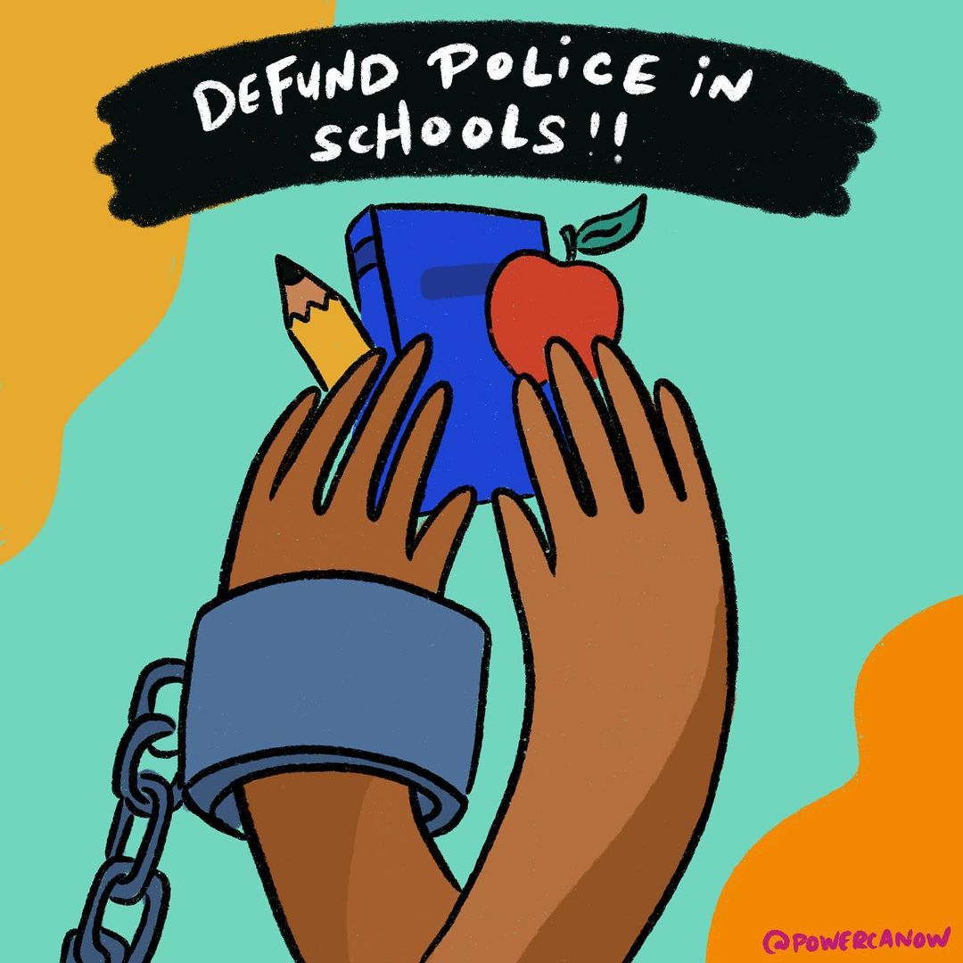 Yess! Black & Brown communities have been saying it for decades -- WE KEEP US SAFE! It's time to #ReimagineCASchools as places of trust, support and healing! #PoliceFreeSchools