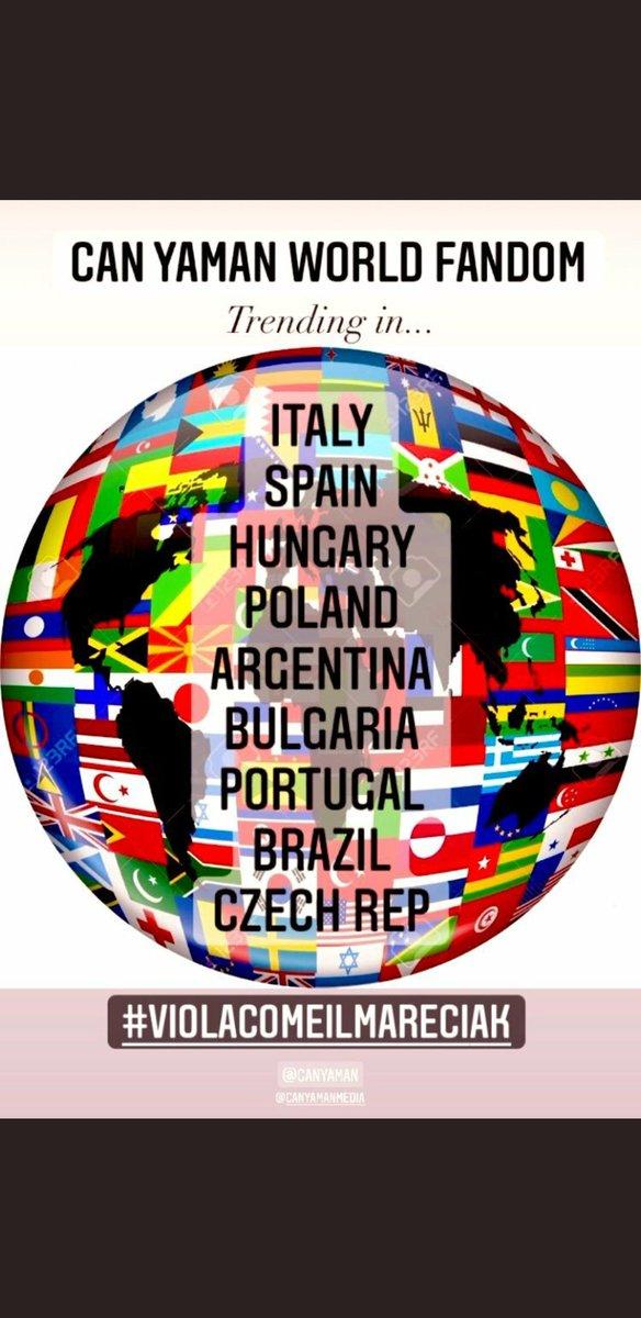 Trending in Italy, Spain, Hungary, Poland, Argentina, Bulgaria, Portugal, Brazil, Czech Rep 🤜💪👏👏👏