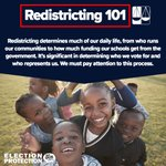 Image for the Tweet beginning: Redistricting happens once every ten