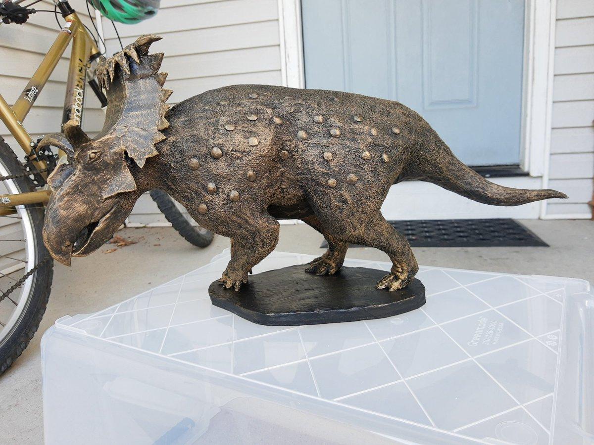 Bronze Dragon #paleoart #sculpture #dinosaur #upcycling