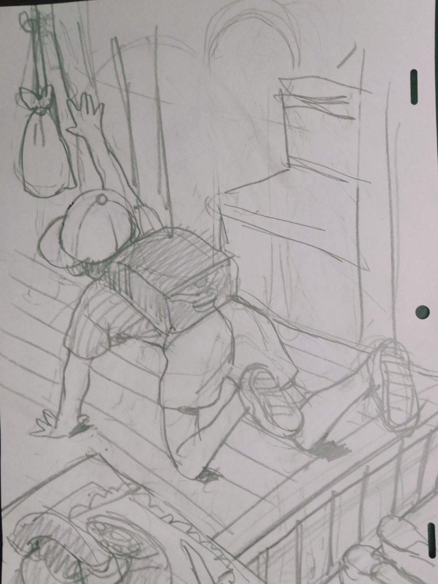 日本の子供のあるある場面?土足で家の中に入れないので、しばしば横着なことをするw
