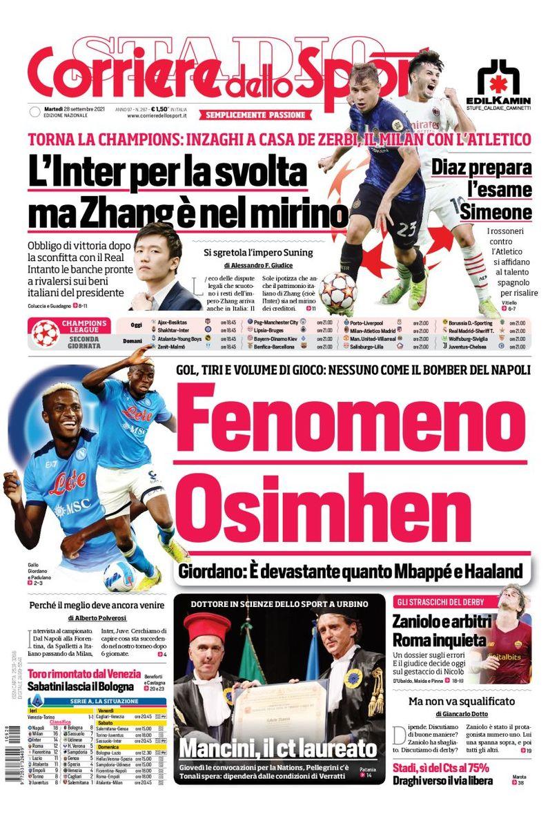 FAWac9vXMAEJ9zY?format=jpg&name=medium - Le prime pagine dei quotidiani sportivi di oggi – 28 settembre