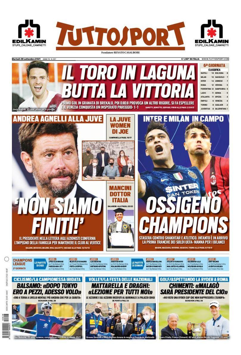 FAWacYuXsAsXpdX?format=jpg&name=medium - Le prime pagine dei quotidiani sportivi di oggi – 28 settembre