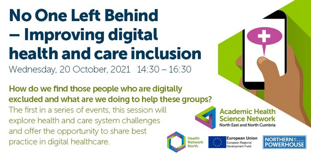 test Twitter Media - DATE FOR THE DIARY: @AHSN_NENC and #HealthNetworkNorth are hosting the first in a series of #digitalinclusion events: ▶ 'No One Left Behind – Improving digital health and care inclusion' 📆 Wednesday 20 October ⏰ 14:30-16:30 Register now: https://t.co/BdhGosqjAO https://t.co/jnp9jQGOzh
