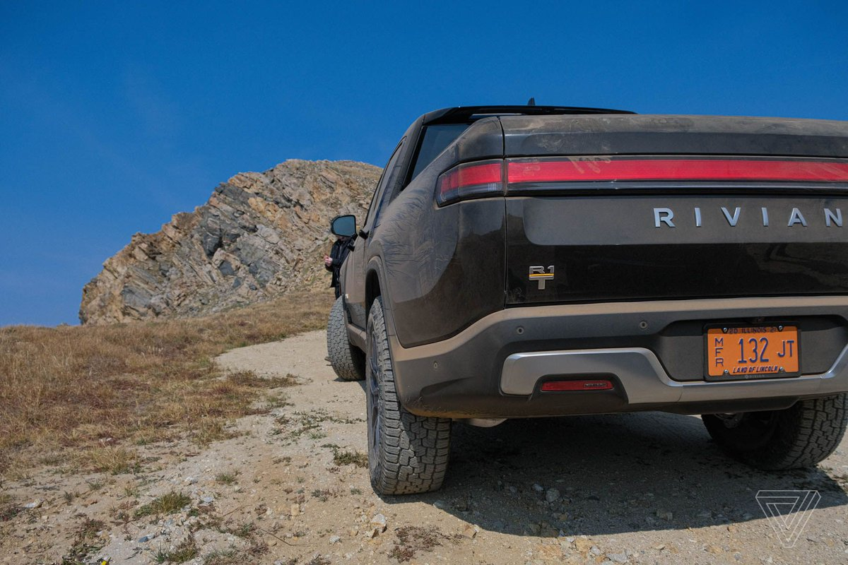 Rivian's R1T electric pickup truck took me to the top of the mountain