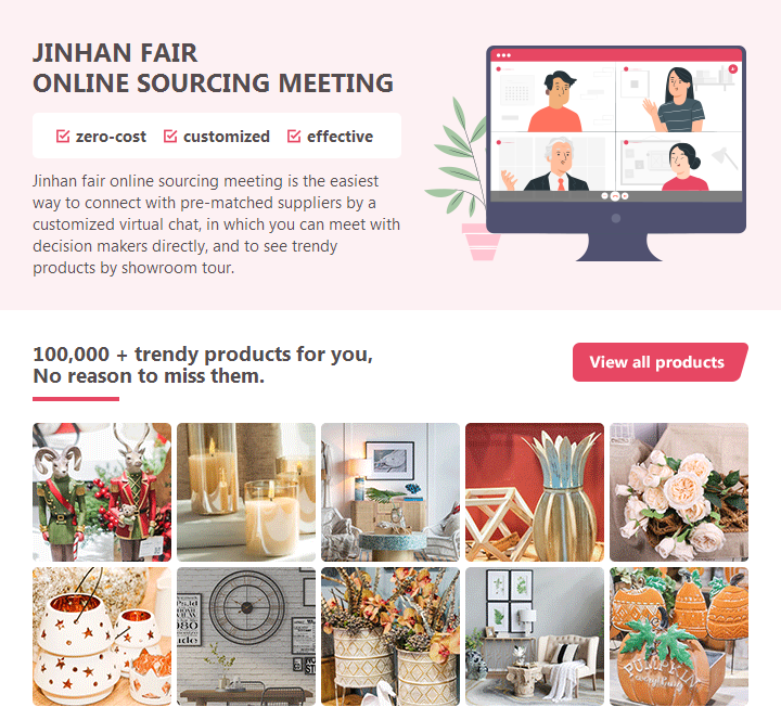 Don't miss it again‼️ Jinhan fair online sourcing meeting is the easiest way to connect with pre-matched suppliers by a customized virtual chat. If you have trouble to find new suppliers, please feel free to contact us!   #homedecor #gifts #Christmas