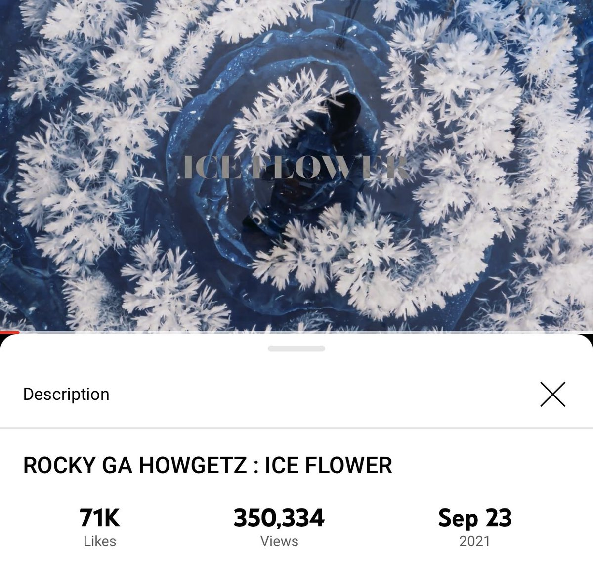 [📈] 210928 10:15 PM KST ROCKY GA HOWGETZ: ICE FLOWER Official Channel: 350,334 views (🔺276) 🔗youtu.be/5GAksgvR8nM #아스트로 #ASTRO #라키 #ROCKYGAHOWGETZ #ICE_FLOWER #라키가하겠지 @offclASTRO
