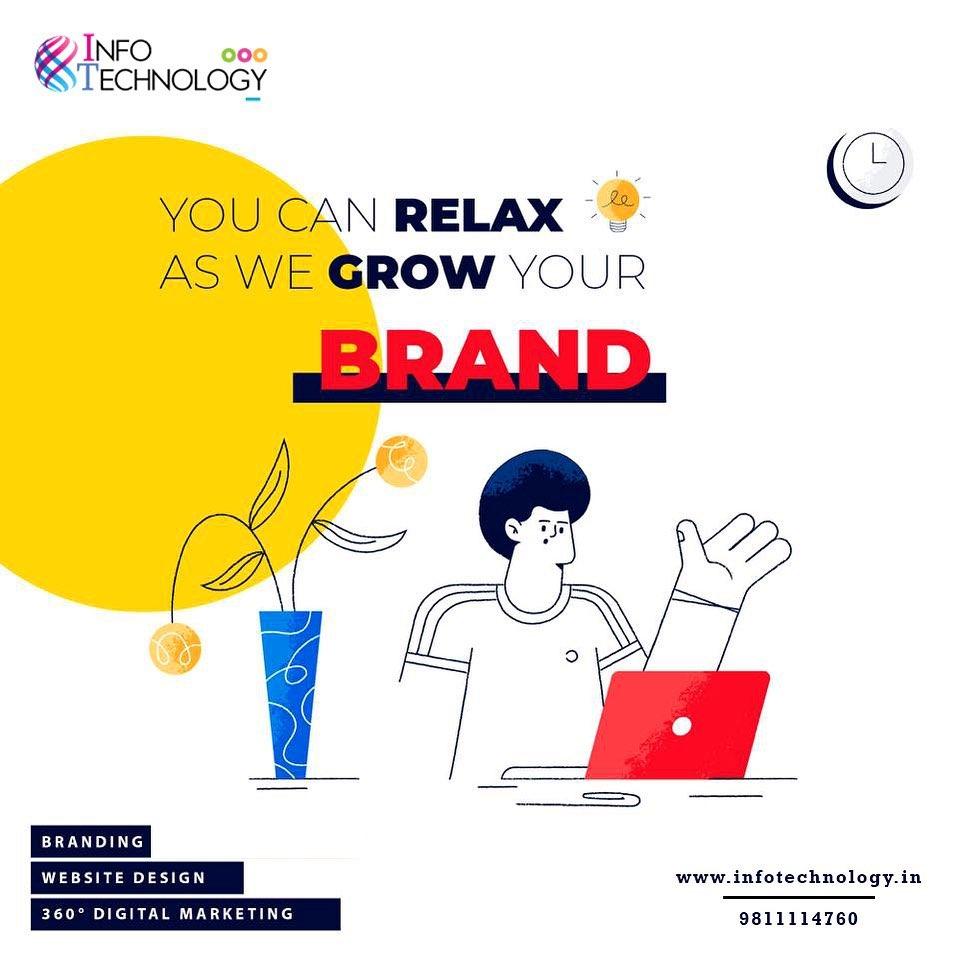You Can Relax as we grow your brand. Get a creative website for your business now make your business grow.  Visit:  #websitedesign #website #digitalmarketing #webdeveloper #webstagram #softwaredevelopment