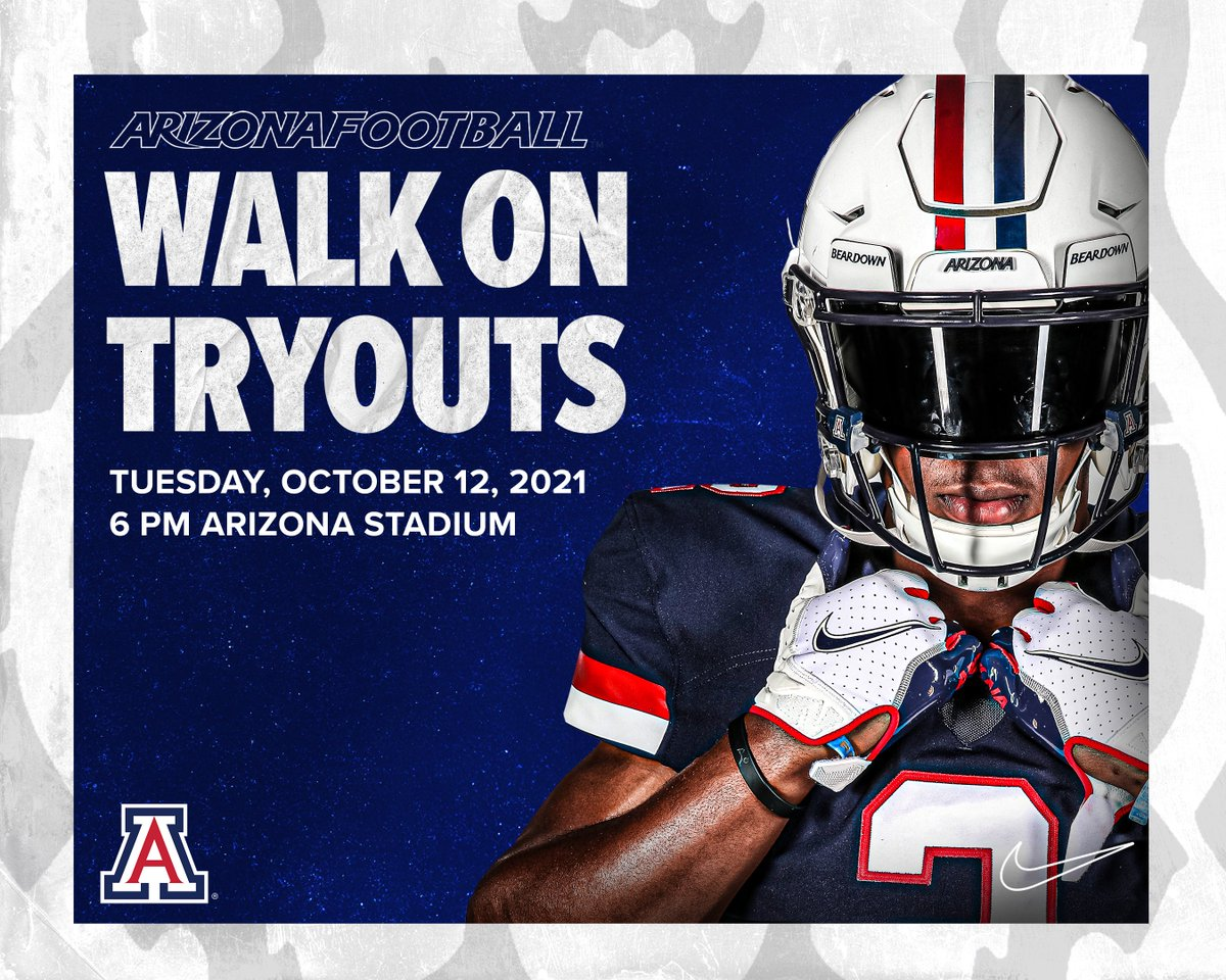 Arizona is 0-4 and doing a midseason walk-on tryout, this could be your chance...