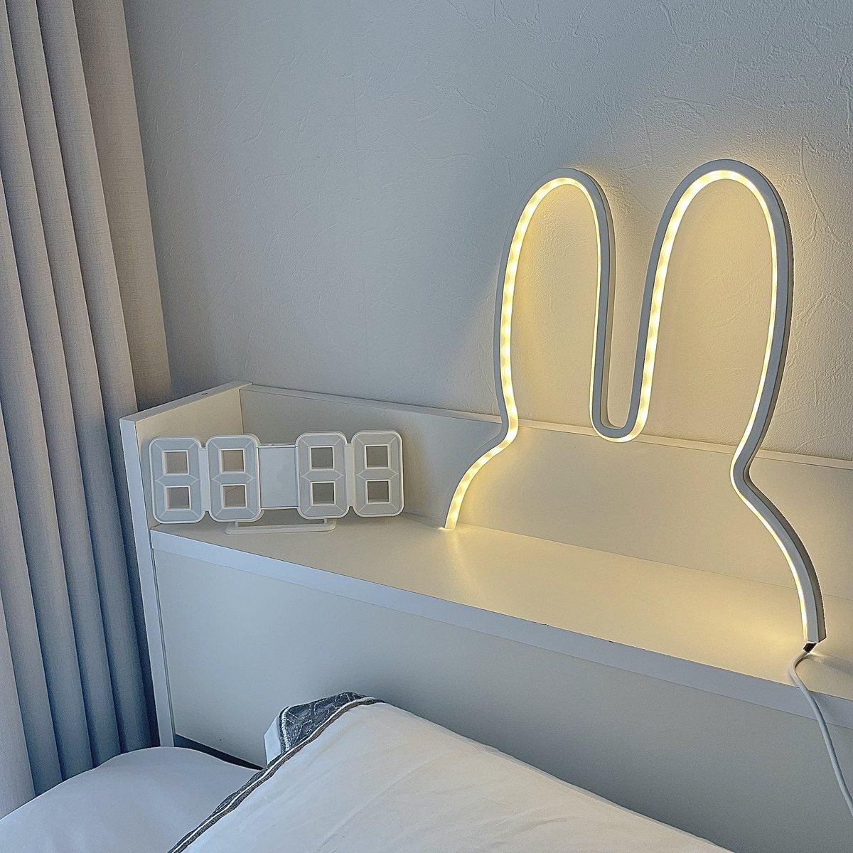 寝室にピッタリ!キュートすぎるうさぎ型のライト!