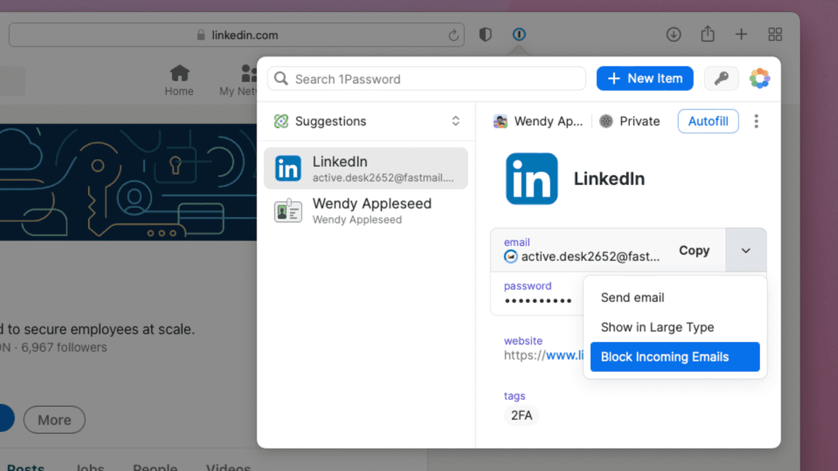 1Password Will Now Let You Hide Your Email for Logins