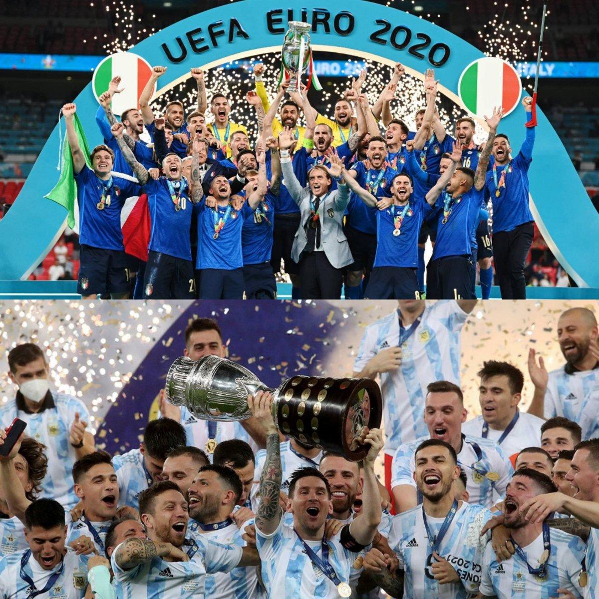 PARTIDAZO 🔥⚽. Duelo de campeones en junio del 2022   👉 #Argentina (campeón de la #Conmebol) vs #Italia (campeón de la #Eurocopa2021) 👉 Sede por confirmar 👉 ¿Cuándo? Junio 2022  PARA NO PERDERSE!!!?