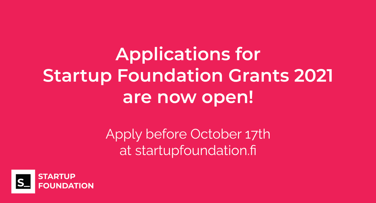 Startups in our network – check out this opportunity by @startupsaatio 👇 Make sure to send in your application before Oct 17th at https://t.co/VkQVHlr3ir https://t.co/C1Qxirt3uB