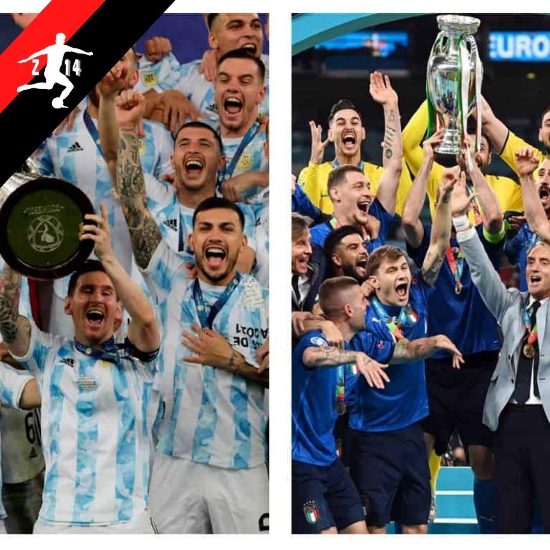 🗺️CONMEBOL y UEFA llegaron a un acuerdo para enfrentar a los campeones de ambas confederaciones🏆✅  🇦🇷Argentina e 🇮🇹Italia se enfrentarán en Junio del 2022 en sede por confirmar 🏟️  #argentina #italia #conmebol #UEFA #copaamerica2021 #eurocopa2021