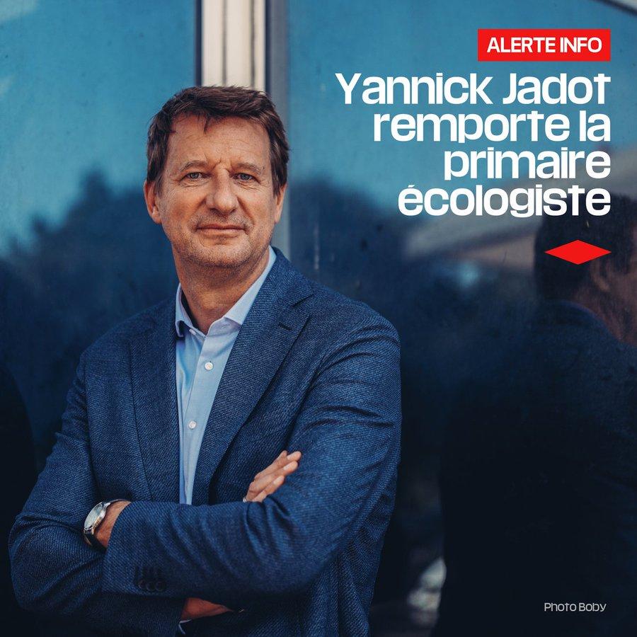 Résultat de la primaire des écologistes : Yannick Jadot vainqueur du second tour avec 51,03%   FAYfEi9UUAIOcmx?format=jpg&name=900x900