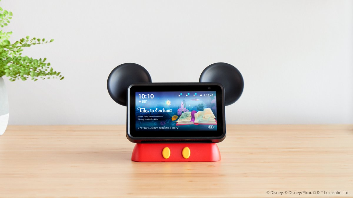 """""""Hey, Disney!"""" is coming soon. @Disney and @amazon partner on a custom voice assistant ??"""