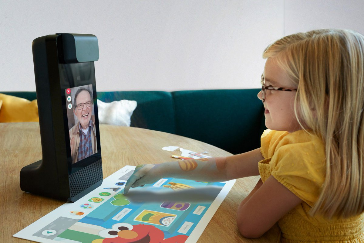 Amazon Glow is a video chat gadget with built-in games to keep kids engaged