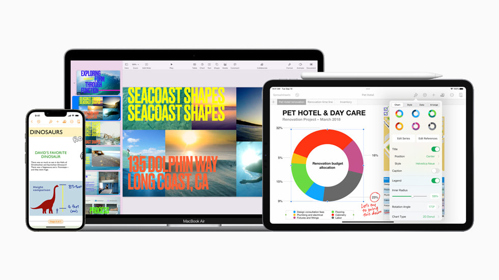 Apple beefs up Keynote, Pages and Numbers with new features