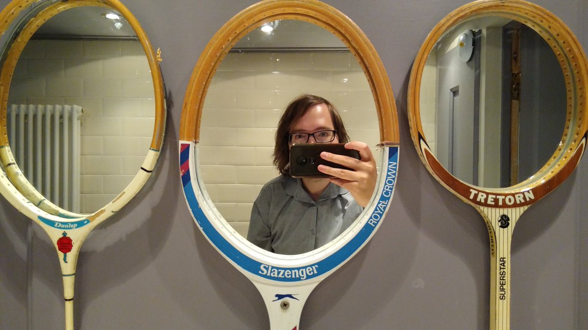 Don't talk to me unless you own tennis racket mirrors #wedding