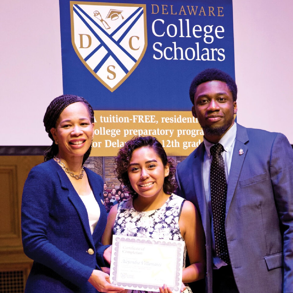 """test Twitter Media - The Delaware College Scholars program, founded by Tony Alleyne '05, is helping underserved students achieve success at Wesleyan and beyond.  """"[The scholars] are resilient,"""" says Alleyne. """"They're trailblazers.""""  https://t.co/xHdHY8zl6J https://t.co/mezC2oQFma"""