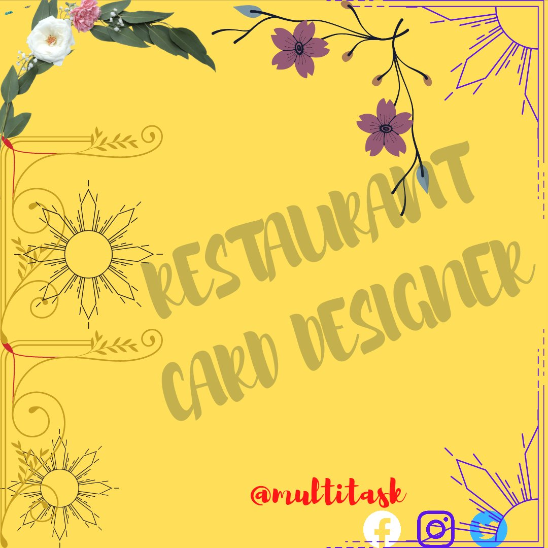 New open Restaurant's welcome  card designer , to design card with new ideas  is a great skill so 👉 here's a sample and keep  Following to  👉 @Multita61747719    #restaurant #designer #foodpanda #foodblogger #food