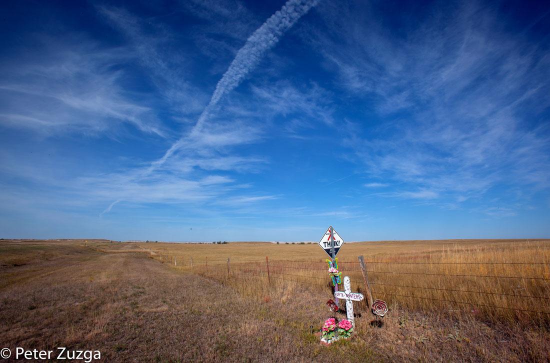 Road-side memorial along Highway 44 in South Dakota this morning. #landscapephotography #photography #photojournalism #Memorial #SouthDakota
