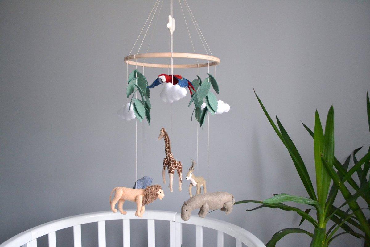 The my #etsyshop   Safari mobile, Jungle mobile, Safari #nursery decor #Baby felt mobile, Neutral #babymobile #Newborngift #babyshower #bedroom #bohemianeclectic #babycribmobile #safarimobile #safarinurserydecor  #etsy #etsydecor #handmade