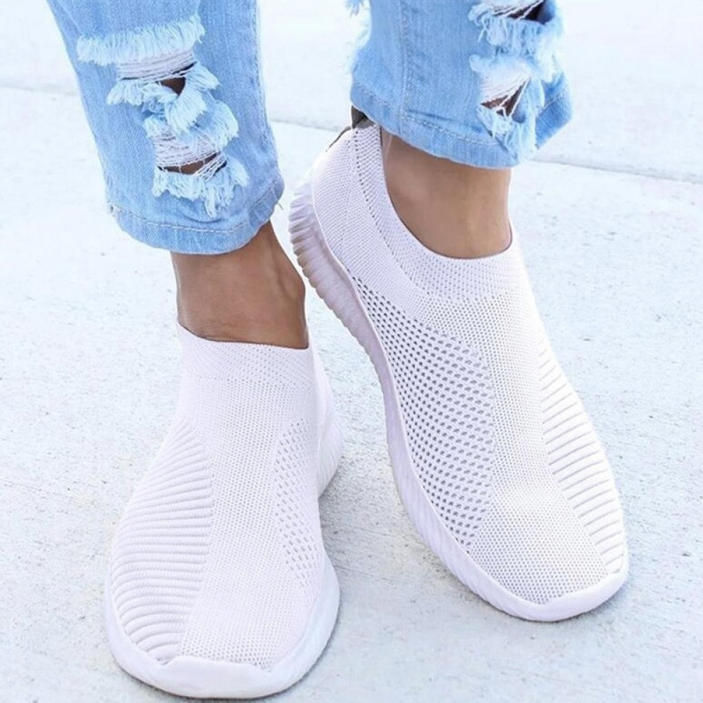 Women Flat Slip on White Shoes Woman Lightweight White Sneakers Summer Autumn Casual Chaussures Femme Basket Flats Shoes #makeup #likeforfollow