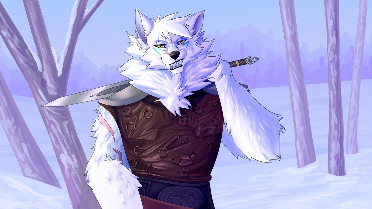 "[CM] - ""Norse warrior"" for @HeirOfRagnarok #artistsontwitter #wolf #furry #furryart #furryartwork #furrycommission #art #drawing #painting #furrycommunity #furryfandom #Viking #sword #weapon #landscape #winter #scenery"