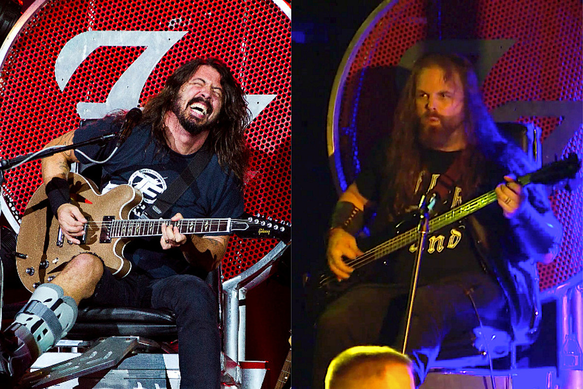 Dave Grohl Lends His Onstage Throne to Metal Bassist Shot in Leg  #musicNnews #music