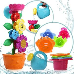 OleOletOy Baby Bath #Toy- With 4 Colored Stacking Cups; Cute Bathtime Fun Toys with Suction Cups for Bathtub  More:   #BathToys #Bathroom #Boys #Durable #Flower #Girls #Interesting #SaverDeal