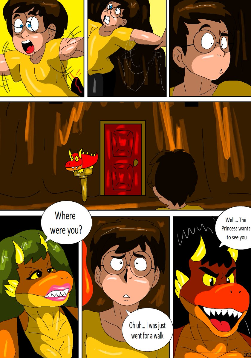 Here are more parts of the Fire Ground comic  #Oc #OriginalCharacters #Fire #Winter #Comics