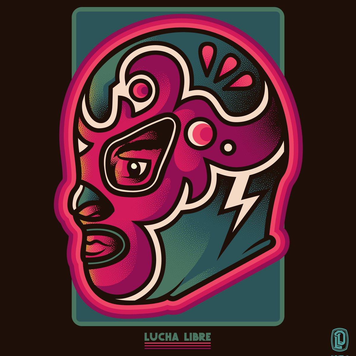 Lucha II #illustration #illustrator #design #art #arte #print #luchador #luchalibre #mascara #mask #society6 #artprint #surreal