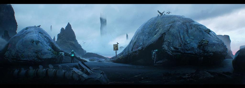 Apologize, a personal piece by our Sr Environment Artist, Mark Kolobaev.   #scifi #art #concept #conceptart #conceptartist #design #fantasy #whale #odd #sea #ocean #mystery #creepy #spiritual #sciencefiction #scifiart #classicscifi