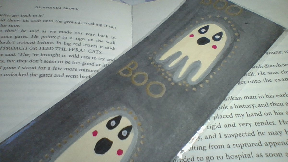 """Thanks for the kind words! ★★★★★ """"The bookmark is so cute, I love to look at it when I am reading along with the others I ordered. Thank you so much."""" Haley  #etsy #halloween #ghosts #cute #silver #gold #black #reading #giftforher #giftforhim"""