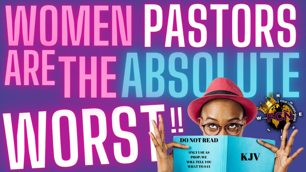 God never set a WOMAN 👩🏾 over a ⛪️ ! He always put a man in charge; so why is the #black #church full of women pastors? They don't teach what God says, but are teaching 🗣from their own #emotions and #opinions.