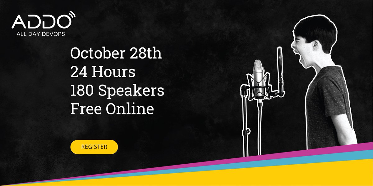 We're proud to support this year's stacked #AllDayDevOps conference. Join us on October 28th for 24 hrs of essential #DevOps learning, 6 tracks, 180 speakers, and 25k+ professionals like you. Register here: https://t.co/V6TYPPI6Vq