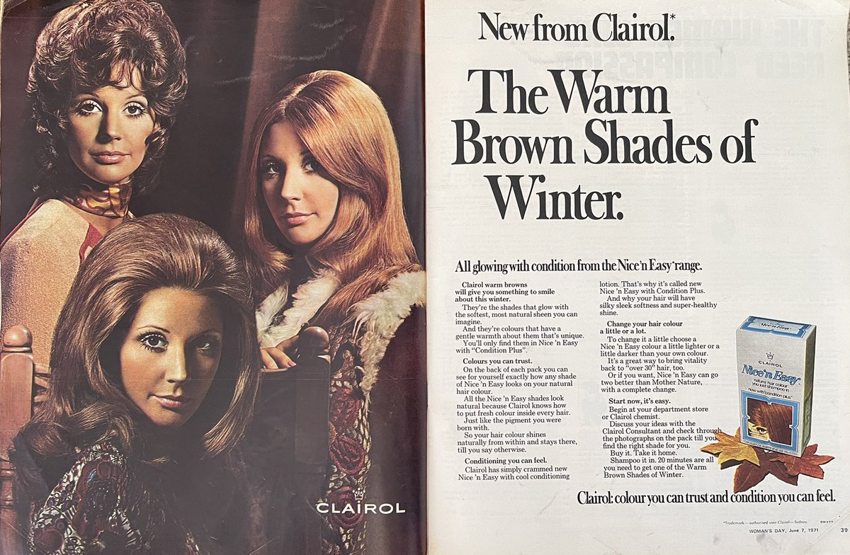 New from @ClairolColor #1970s #hair #fashion #advertising #HairTwitter