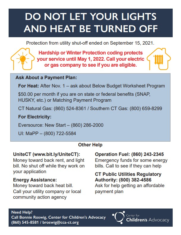 Winter will be here soon. Are you prepared? Do you need assistance paying your utilities?   There are services available for eligible #CT families. Click on the image to learn more.  #utilities #energy #heat #lights #electric #gas #winter #rentalassistance #hardship